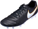 Nike Tiempo Legacy II FG Soccer Cleats - Black & White