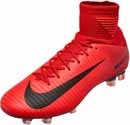 Nike Mercurial Veloce III DF FG - University Red & Black