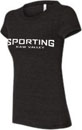Sporting Kaw Valley Ladies Triblend Logo Tee - Charcoal