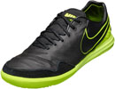 Nike TiempoX Proximo IC Soccer Shoes - Black & Volt