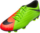 Nike Hypervenom Phade III FG - Electric Green & Hyper Orange