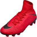 Nike Hypervenom Phatal III FG - University Red & Black