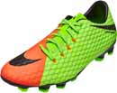 Nike Hypervenom Phelon III FG Soccer Cleats - Electric Green & Hyper Orange