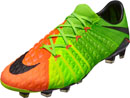 Nike Hypervenom Phantom III FG Soccer Cleats - Electric Green & Hyper Orange