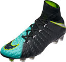 Nike Womens Hypervenom Phantom III DF FG - Light Aqua & White