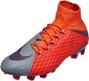 Nike Womens Hypervenom Phatal III FG - Cool Grey & Max Orange