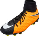 Nike Kids Hypervenom Phelon III DF FG - Laser Orange & Black
