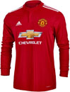 adidas Manchester United L/S Home Jersey 2017-18