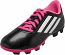 adidas Kids Conquisto FG Soccer Shoes - Black & Pink