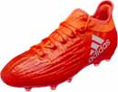 adidas Kids X 16.1 FG Soccer Cleats - Solar Red & Silver Metallic
