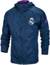 adidas Kids Real Madrid Full-zip Hoodie - Collegiate Navy