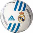 adidas Real Madrid Soccer Ball - White & Vivid Teal