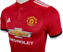 adidas Manchester United Authentic Home Jersey 2017-18