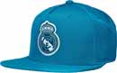 adidas Real Madrid Flat Cap - Solid Grey & Vivid Teal