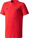 adidas Kids Manchester United Tee - Real Red