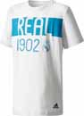 adidas Kids Real Madrid Tee - Grey One & Vivid Teal