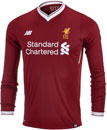New Balance Kids Liverpool L/S Home Jersey 2017-18