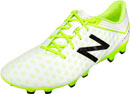 New Balance Visaro Pro FG Soccer Cleats (wide) - White & Toxic