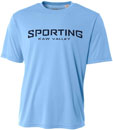 Sporting Kaw Valley Kids Performance Crew - Light Blue