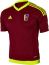 adidas Kids Venezuela Home Jersey - Red and Yellow