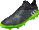 adidas Messi 16+ Pureagility FG Soccer Cleats - Dark Grey & Metallic Silver