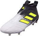adidas ACE 17+ Purecontrol FG Soccer Cleats - White & Solar Yellow