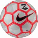 Nike Duro X Soccer Ball - Pure Platinum & Bright Crimson
