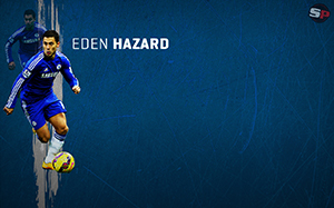 Eden Hazard Soccer Desktop Wallpaper