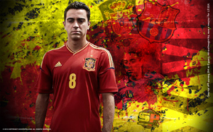 Xavi Soccer Desktop Wallpaper