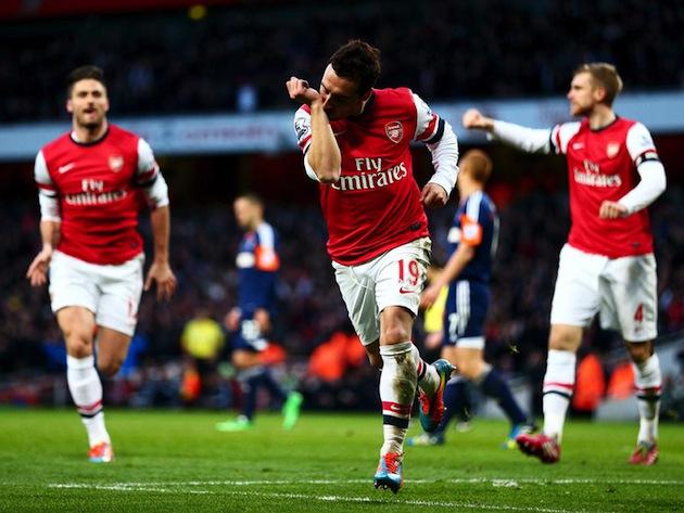 Cavorla scores for Arsenal