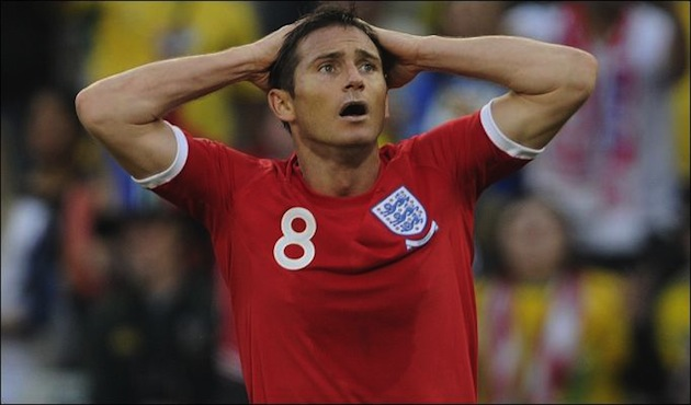 Lampard after disallowed goal