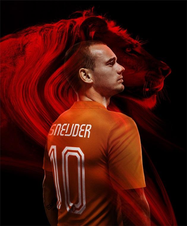 Sneijder in Holland jersey