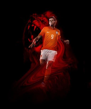 Huntelaar in Holland home kit
