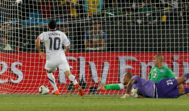 Donovan scores in 2010 World Cup