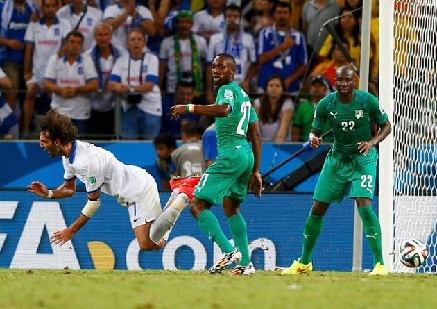 Greece vs. Ivory Coast World Cup 2014