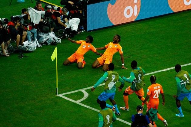 Ivory Coast World Cup celebration