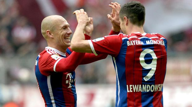Robben and Lewandowski