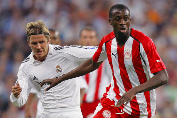 Toure with Olympiacos