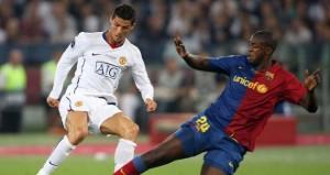 Toure tackling Ronaldo in Champions League
