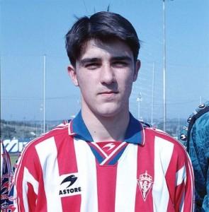 Young David Villa on Sporting Gijon