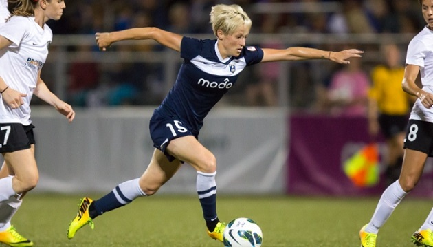 Rapinoe with Seattle Reign