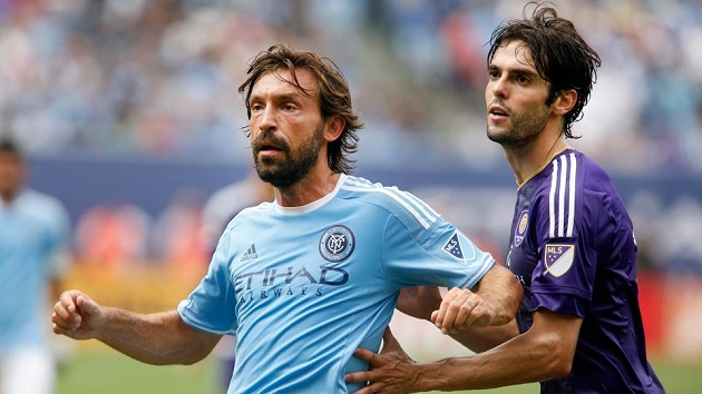 Pirlo and Kaka in MLS