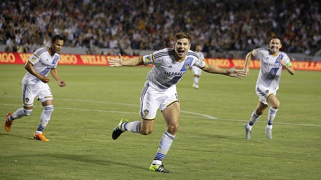Gerrard scores for Galaxy