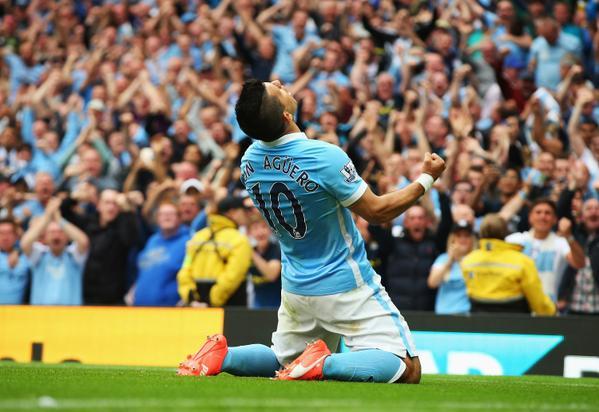 Kun Aguero scores for City