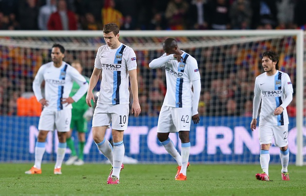 City loses to Barca in Champs League