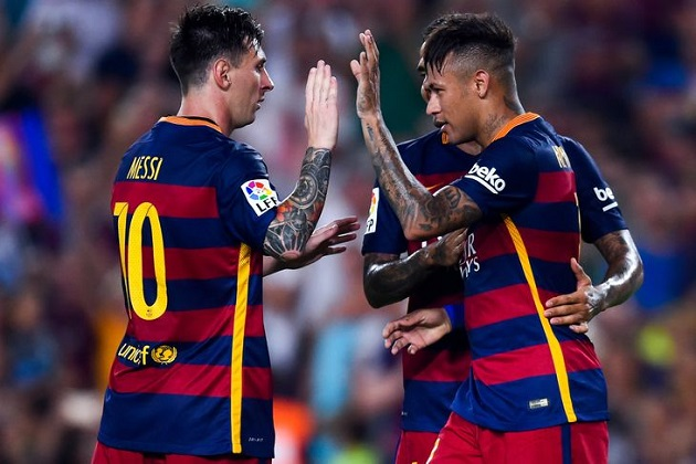 Messi and Neymar for 2015-16 Barca