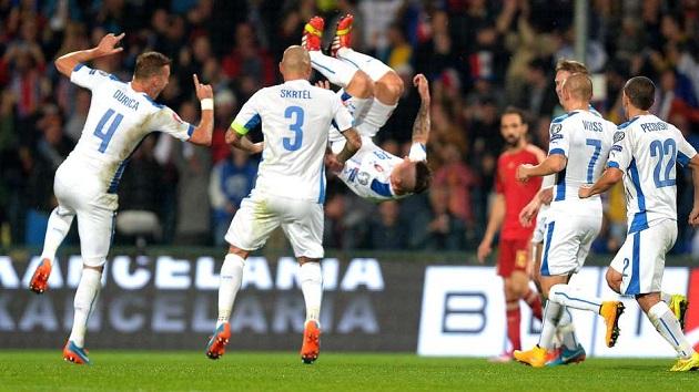 Slovakia in Euro 2016 qualifier
