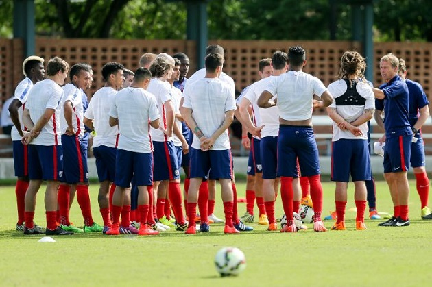 USMNT in training