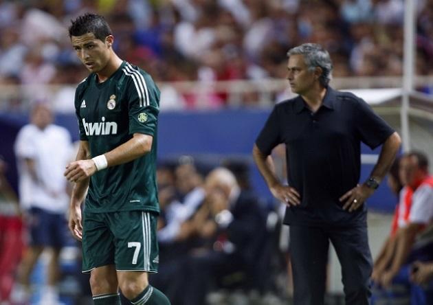 Mourinho and Cristiano Ronaldo