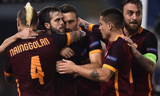 Roma scores vs. Leverkusen